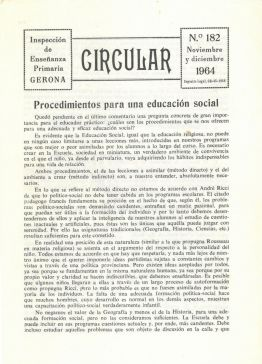 A Comunidade educativa do S.XX, documento do mes do Arxiu de Roses